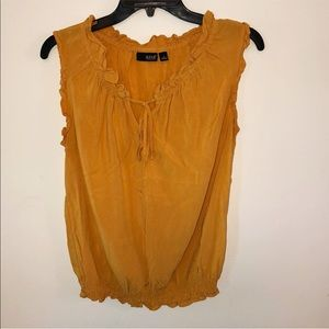a.n.a Mustard Blouse . Size Medium